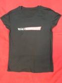 Öko-T-Shirts mit Logo vorn, schwarz, Frauen- u. Männer S, M, L, XL, 18,-