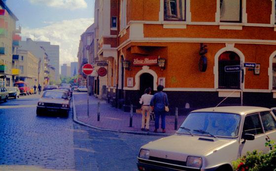 1982. Blick auf Jordanstraße. Von Ecke Jungstraße, Unser Haus ist erkennbar.