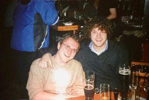 2003(?) Daniel rechts u. sein Freund Thomas