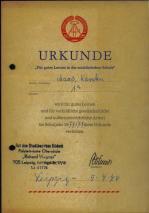 04 Urkunde für gutes Lernen 1974