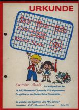 05 Urkunde zur ABC-Mathe-Olympiade 1976