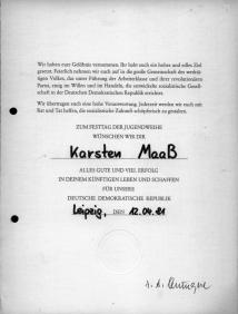 14 Urkunde zur Jugendweihe 1981 3