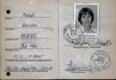 15 FDJ-Ausweis 1980