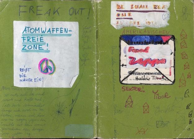 Hausaufgabenheft eines Freundes 1982