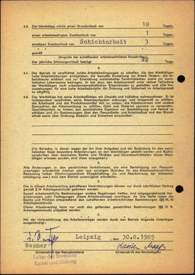 40 Arbeitsvertrag Db 1985 2 Einer Geht Immer