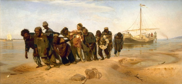 Ilia Efimovich Repin (1844-1930), Wolgatreidler (1870-1873)
