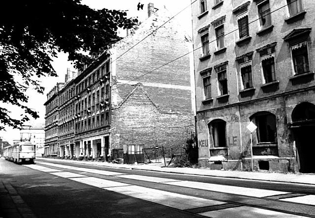 1988, Leipziger Osten, Hermann-Liebmann-Straße., Foto V. Müller